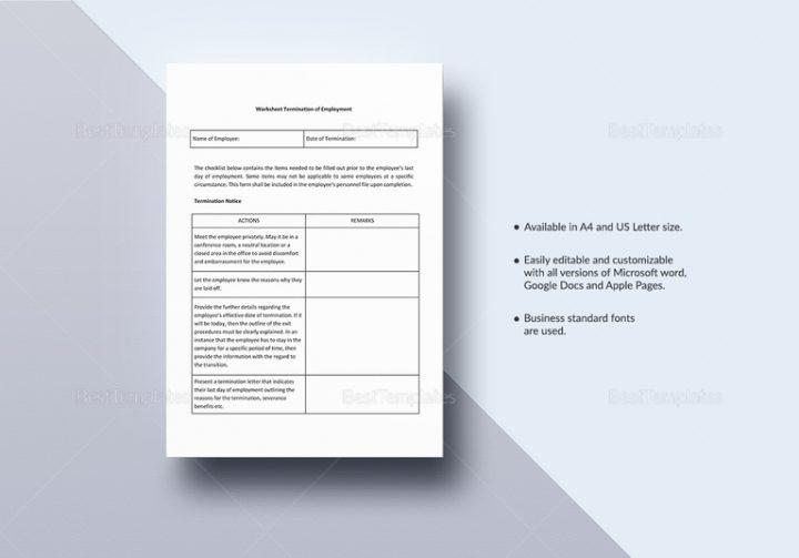 18+ Employee Termination Templates - Word, PDF, Excel Free