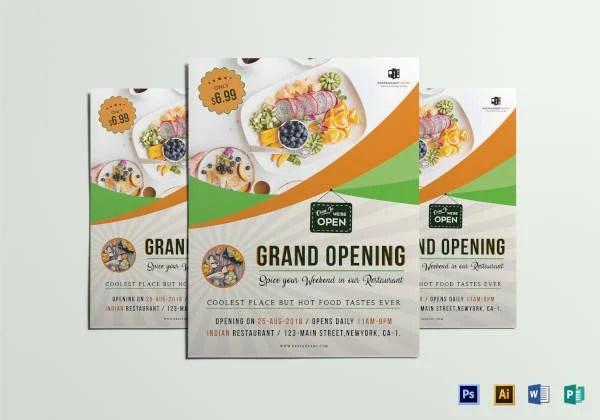 15+ Restaurant Grand Opening Flyer Designs  Templates - PSD, AI - grand opening flyer template