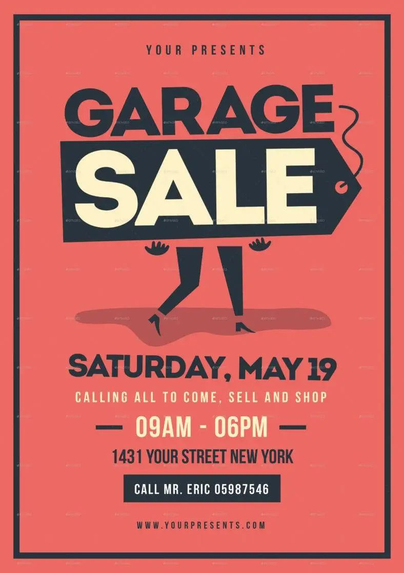 garage sale flyers examples