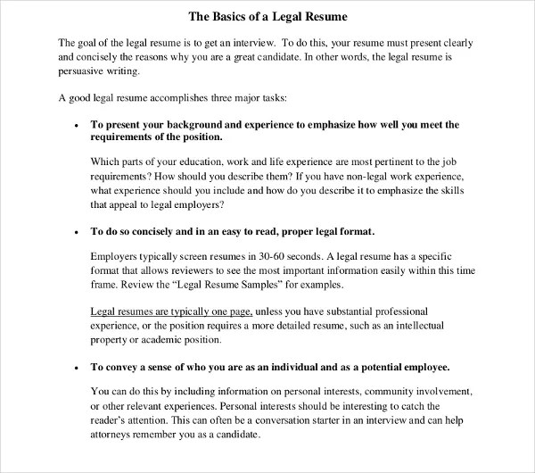 10+ Legal Resume Templates - PDF, DOC Free  Premium Templates - legal resumes