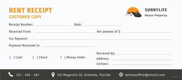 3+ Printable House Rent Receipt Templates - PDF, DOC Free