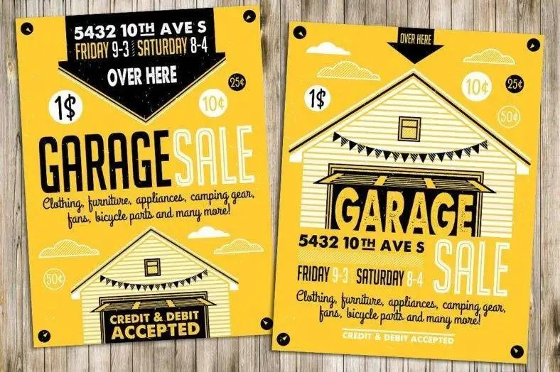 14+ Garage Sale Flyer Designs  Templates - PSD, AI Free  Premium