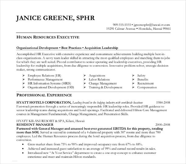 sample resume already done