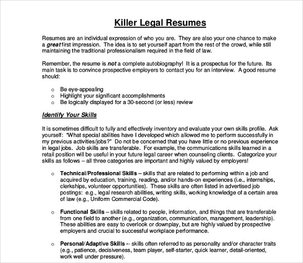 10+ Legal Resume Templates - PDF, DOC Free  Premium Templates - legal resume templates