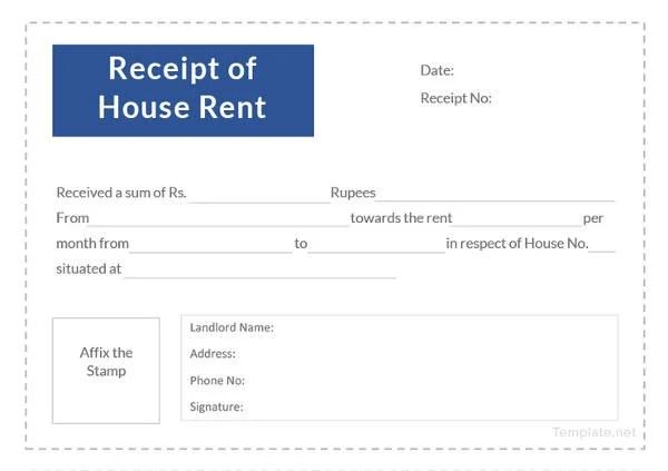 9+ Landlord Rent Receipt Templates - PDF Free  Premium Templates