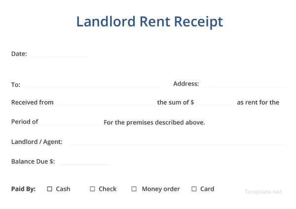 landlord rent receipt template - Yokkubkireklamowe