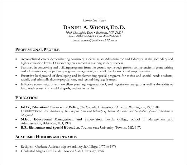 10+ Teaching Curriculum Vitae Templates - PDF, DOC Free  Premium