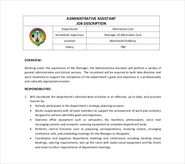 28+ Business Job Description Templates - PDF, Word Free  Premium - job description templates