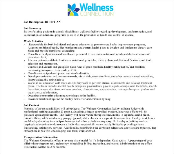 Dietitian And Nutritionist Job Descriptionholistic nutritionist jobs