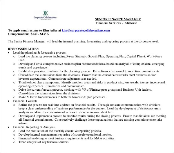 17+ Finance Resume Templates - PDF, DOC Free  Premium Templates