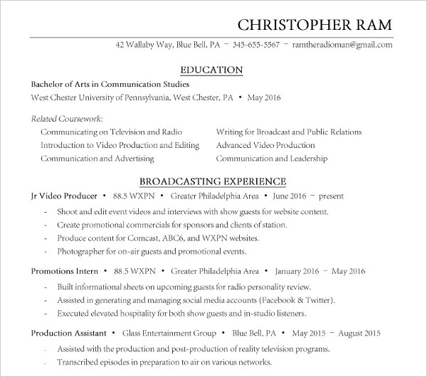 7+ Social Media Resume Templates - PDF, DOC Free  Premium Templates