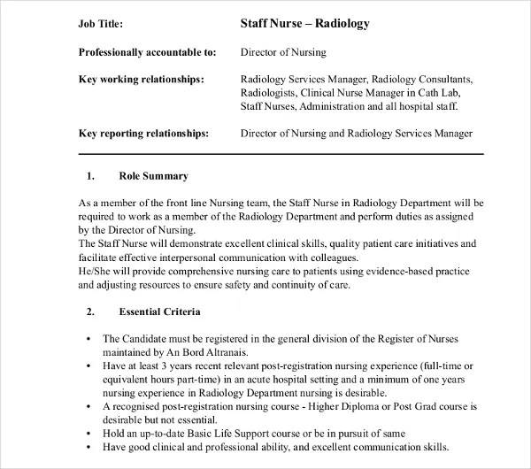 10+ Radiologist Job Description Templates - PDF, DOC Free - radiologist job description