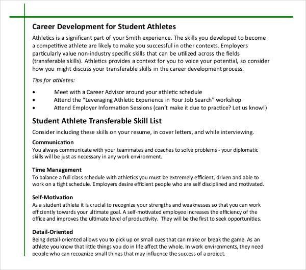 8+ Athletic Director Resume Templates - PDF, DOC Free  Premium - detail oriented resume