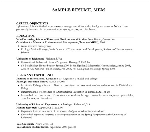 1 Watershed Management Resume Examples In Idaho \u2013 resume