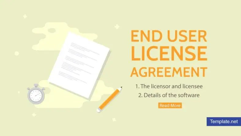 What is End User License Agreement? - PDF Free  Premium Templates - end user documentation template