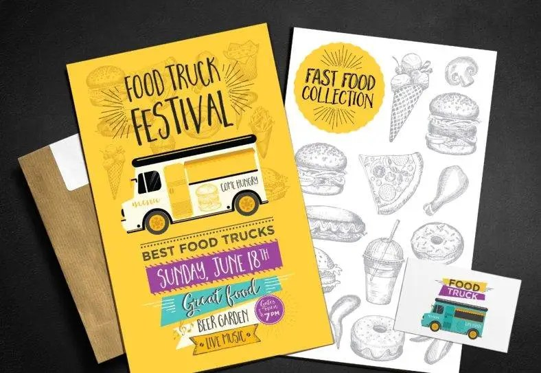 14+ Food Truck Menu Designs  Templates - PSD, AI, InDesign Free - food truck menu template