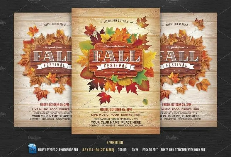 10+ Autumn Flyer Designs  Templates - PSD, AI Free  Premium - fall festival flyer ideas