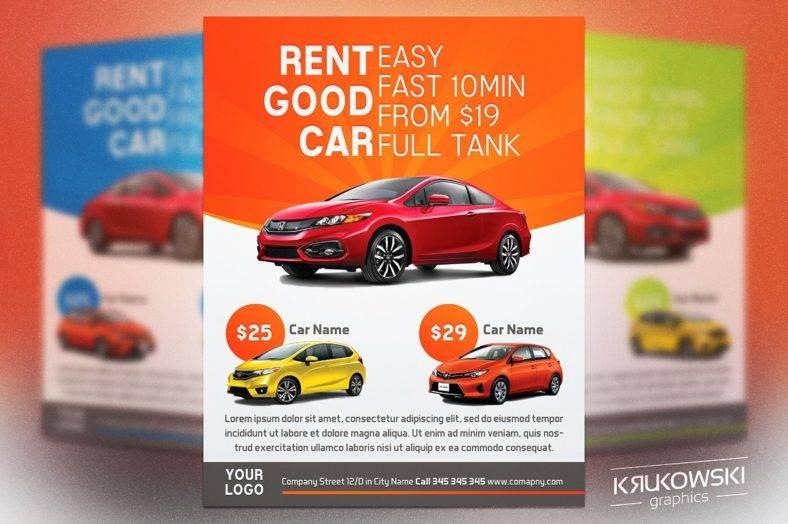 14+ Car Rental Flyer Designs  Templates - PSD, AI, InDesign Free - car ad template