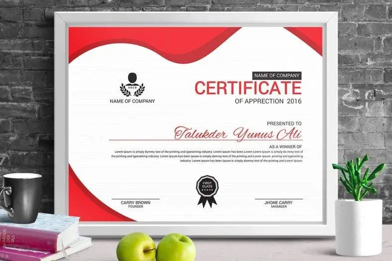 certificate of merit design - Pinarkubkireklamowe