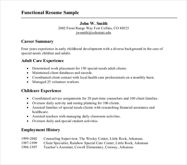 10+ Functional Resume Templates - PDF, DOC Free  Premium Templates - Functional Resume Template Pdf