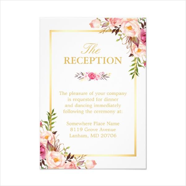 14+ Wedding Reception Card Designs  Templates - PSD, AI Free