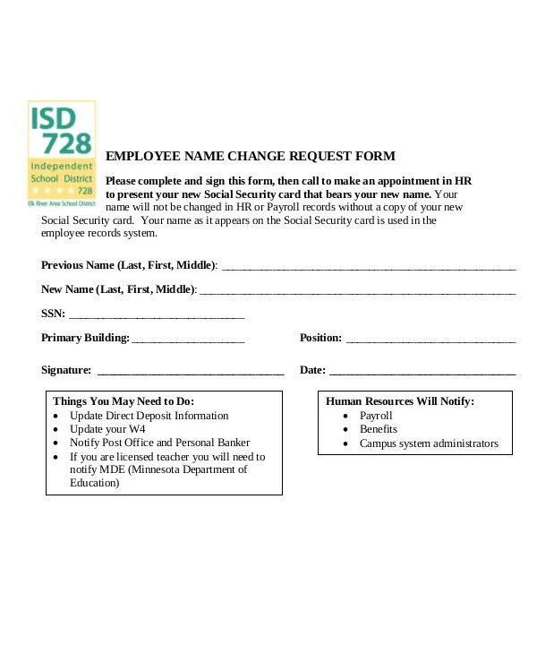 3+ Employee Record Change Forms Templates - PDF Free  Premium