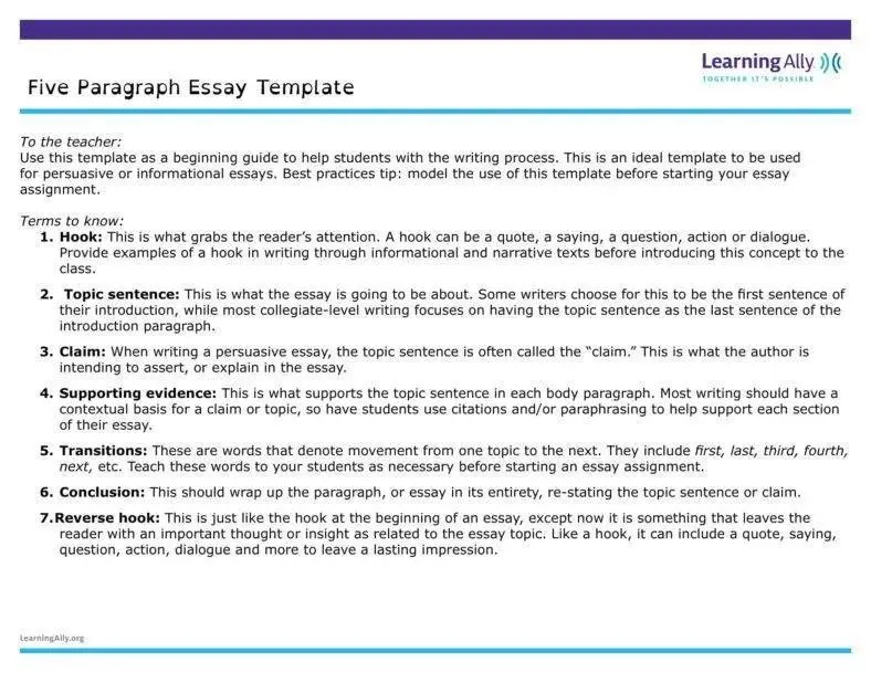 5 paragraph outline template - Pinarkubkireklamowe