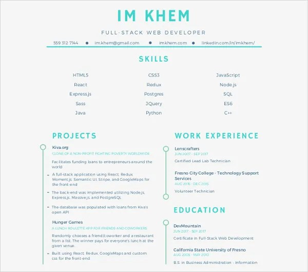 10+ Web Developer Resume Templates - PDF, DOC Free  Premium Templates - Web Development Resume