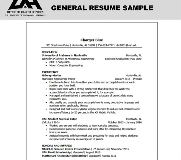 10+ General Resume Templates - PDF, DOC Free  Premium Templates - General Resume