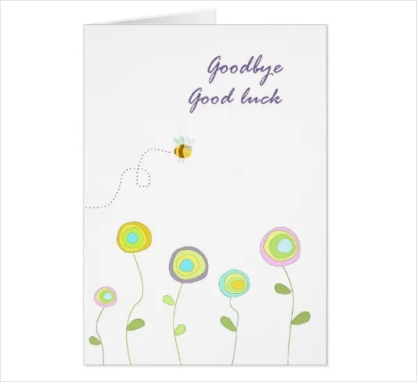 Good Luck Card Template - 21+ Free Printable Sample, Example