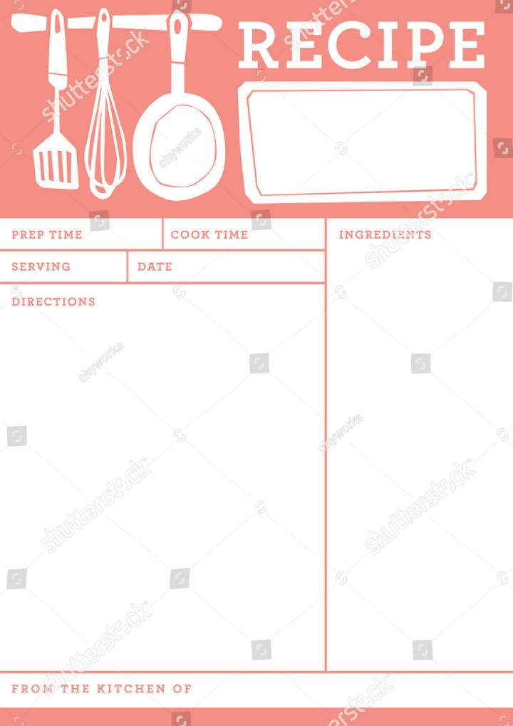 free restaurant templates