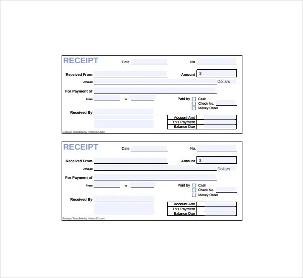 20+ Printable Cash Receipt Templates - PDF, Word Free  Premium - money receipt template