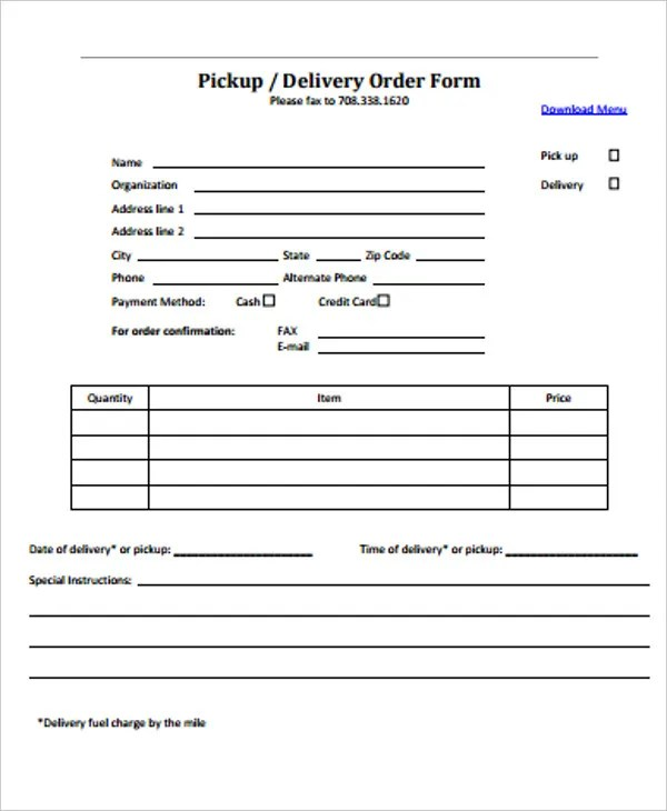 10+ Delivery Order Forms - PDF Free  Premium Templates
