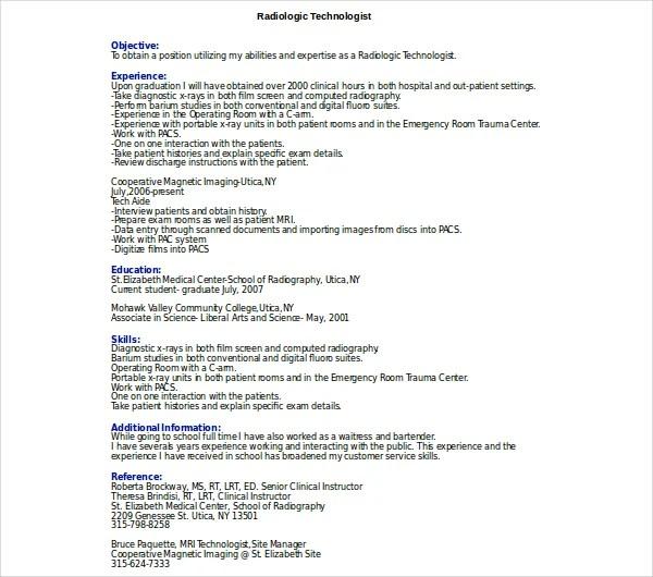 8+ Radiologist Resume Templates - PDF, DOC Free  Premium Templates
