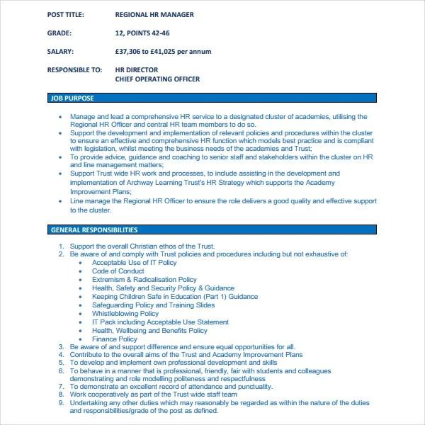 Hr Director Job Description ophion