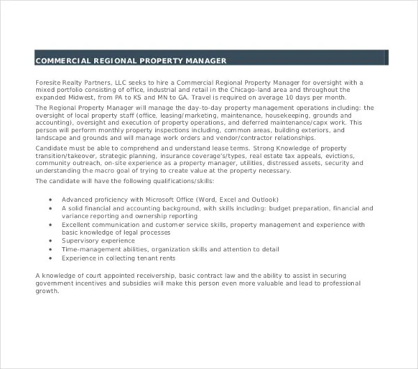 10+ Property Manager Resume Templates - PDF, DOC Free  Premium - government property administrator sample resume
