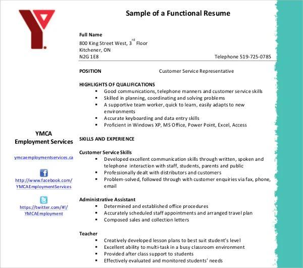 functional resume template pdf