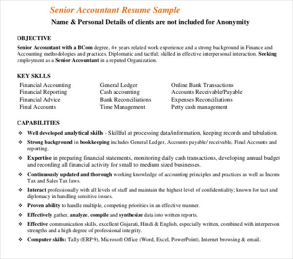 31+ Accountant Resume Design Templates - PDF, DOC Free  Premium