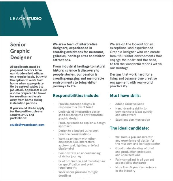 graphical template senior cv