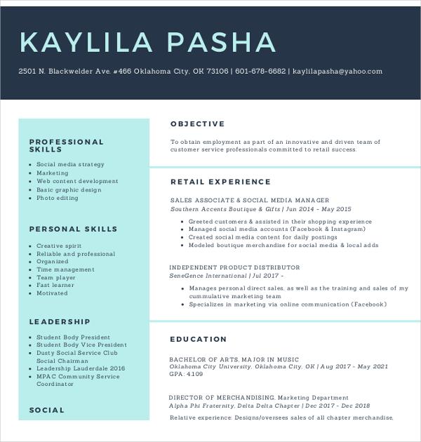 15+ Social Media Resumes Templates - PDF, DOC Free  Premium Templates - resume social media