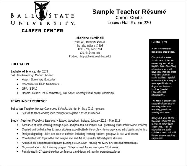 example of resume format pdf