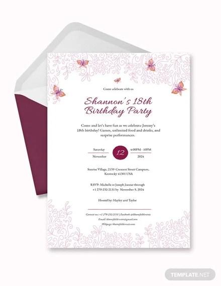 28+ Teenage Birthday Invitation Templates \u2013 PSD, AI Free  Premium