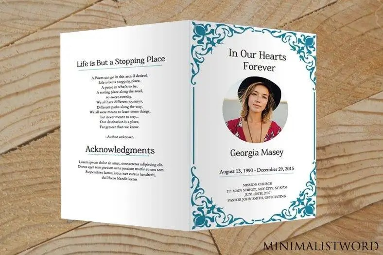 24+ Memorial Card Designs  Templates - PSD, AI, InDesign Free