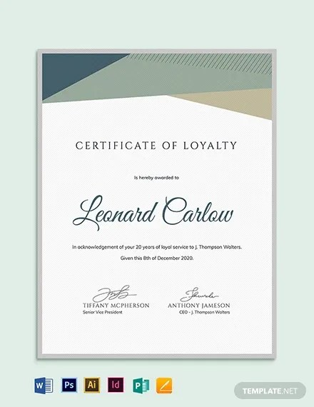 21+ Award Certificate Examples - Word, PSD, AI, EPS Vector Free