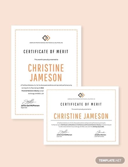 15+ Certificate of Merit Designs  Templates - PSD, AI, Word Free