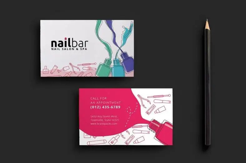 11+ Beauty Business Card Designs  Templates - PSD, AI Free