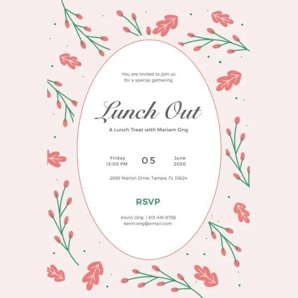 14+ Lunch Invitation Templates - Free Sample, Example, Design