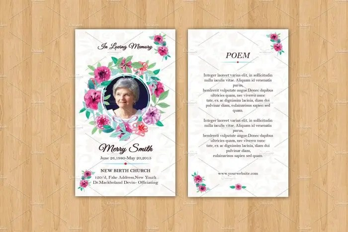 12+ Personalized Memorial Card Designs and Templates - PSD, AI
