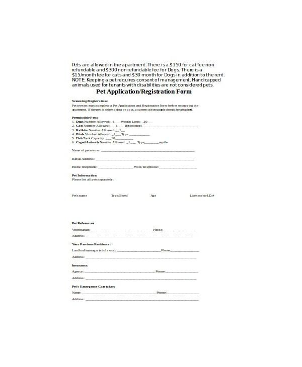 9+ Puppy Application Form Templates - PDF, DOC Free  Premium