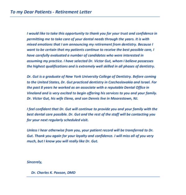 9+ Retirement Announcement Letter Templates - PDF Free  Premium